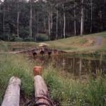 bridge before excavations