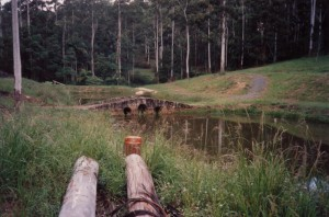 bridge before excavations